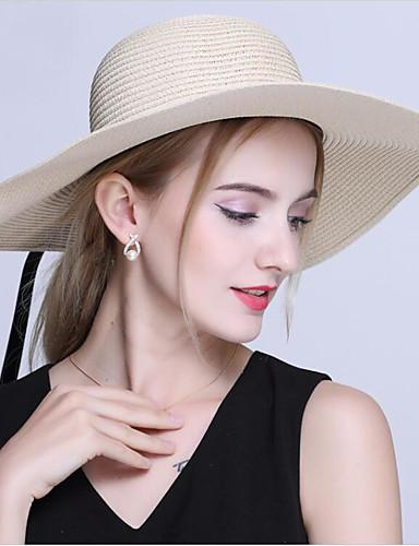 Women's Hat Vintage Linen Sun Hat - Solid Colored Pure Color