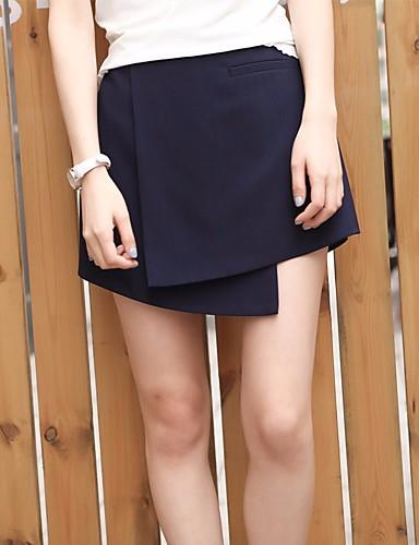 Damen Einfach Hohe Hüfthöhe Mikro-elastisch Chinos Lose Hose einfarbig