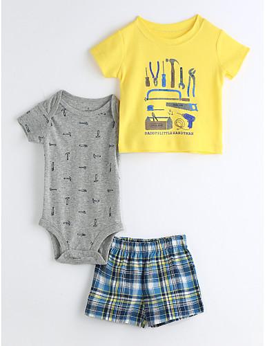Baby Kinder Lässig/Alltäglich Geometrisch Kleidungs Set,Zeichentrick