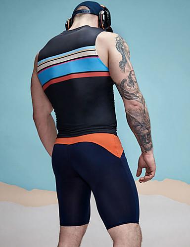 Homens Activo Cintura Baixa Justas / Skinny Shorts Calças Estampado