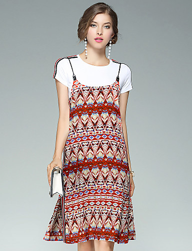 Women's Going out Daily Street chic Two Piece Dress