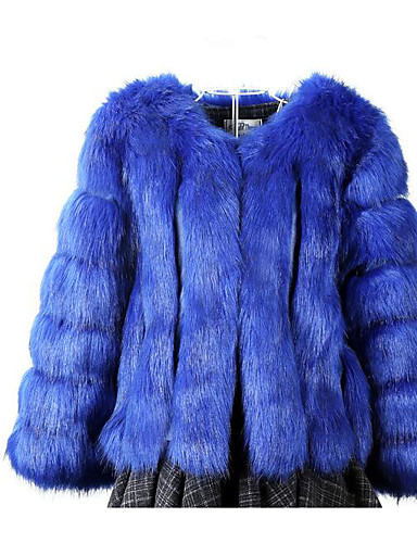 Women's Daily Casual Fall Winter Fur Coat
