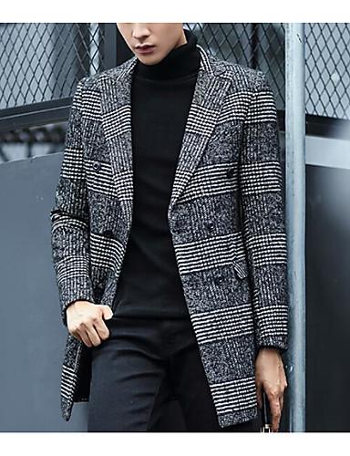 Men's Cotton Coat - Houndstooth