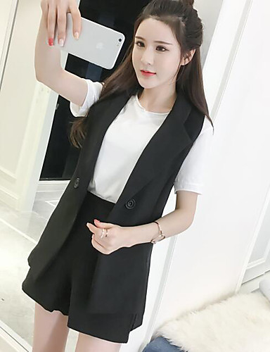 Women's Daily Casual Active Summer T-shirt Pant Suits,Color Block Round Neck Short Sleeve Cotton Micro-elastic