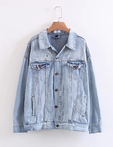 Women's Daily Going out Active Street chic Spring Fall Denim Jacket