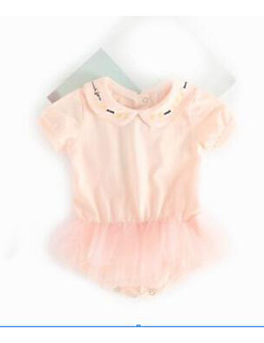 Baby Other One-Pieces, Cotton Summer White Blushing Pink