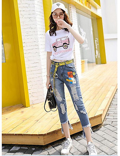 Women's Going out Daily Casual Summer T-shirt Pant Suits