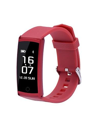 Women's Smart Watch Digital PU Band Black White Red Gold