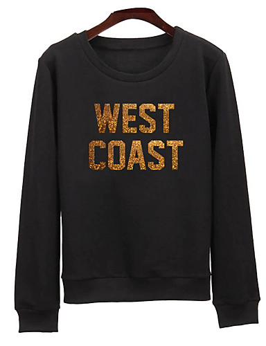 Women's Holiday Cotton Sweatshirt - Letter / Spring / Fall