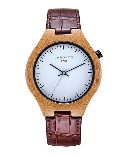Homens Relógio Elegante Relógio de Moda Quartzo Venda imperdível Couro Legitimo Banda Casual Preta Marrom Verde