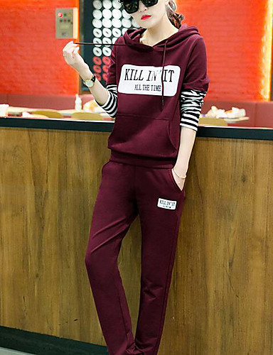 Women's Daily Casual Fall Hoodie Pant Suits