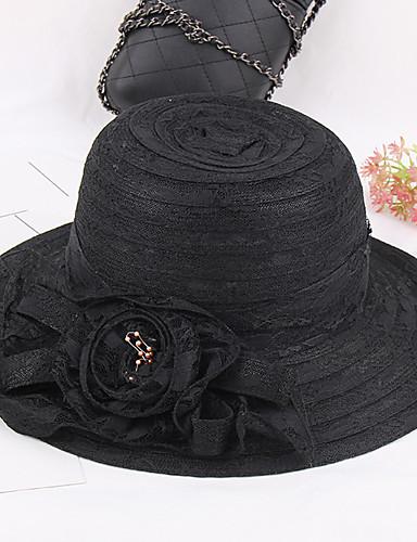 Women's Hat Flower Floppy Hat - Patchwork, Mixed Color