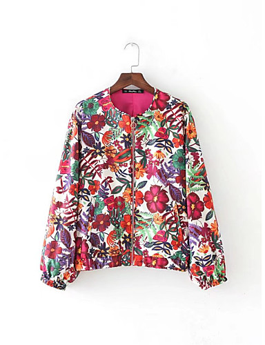 Women's Daily Street chic Sophisticated Spring Fall Jacket
