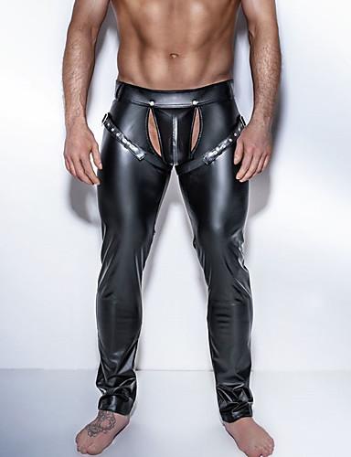 voordelige Herenondergoed & Zwemkleding-Heren Erotisch Lange Johns Effen Uitgesneden Medium Taille