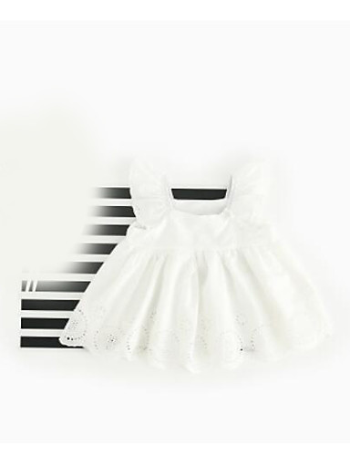 Baby Girls' Solid Blouse Ruffle White