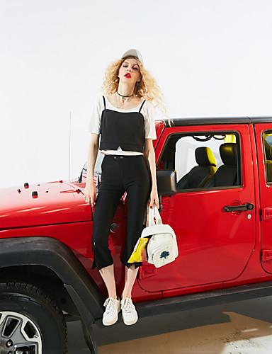 Naiset Hihaton Olkaimellinen Polyesteri Yksinkertainen Päivittäin Kausaliteetti Hihaton,Yhtenäinen