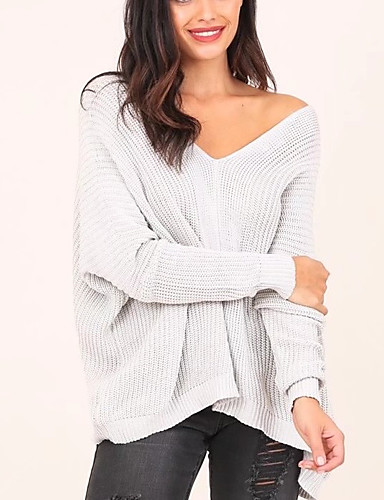 Women's Going out Daily Casual Sexy Street chic Regular Pullover