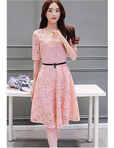 Women's Going out Daily A Line Sheath Dress