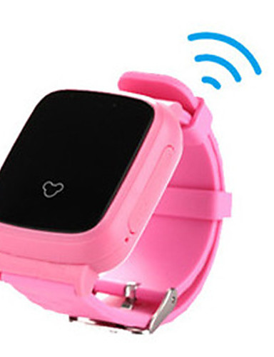 Barn Smartklokke Moteklokke Digital Silikon Band Oransje Rosa