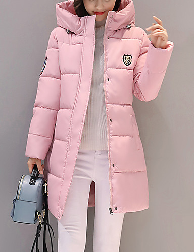 Women's Street chic Long Padded - Solid Colored