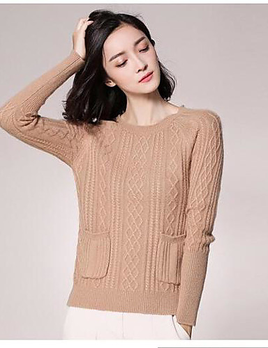 Women's Going out Daily Vintage Casual Cute Regular Pullover