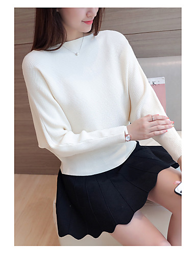 Women's Going out Daily Sexy Casual Cute Regular Pullover