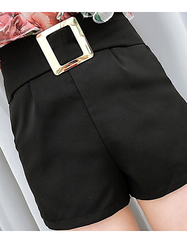 Women's High Rise Micro-elastic Chinos Shorts Pants,Street chic Wide Leg Solid