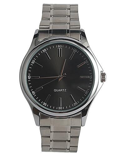 Homens Quartzo Relógio de Pulso Japanês / Aço Inoxidável Banda Casual Fashion Prata