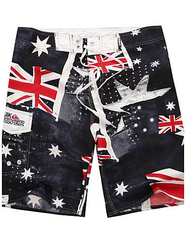 Homens Esportivo Calcinhas, Shorts & Calças de Praia Estampado Shorts de Natação