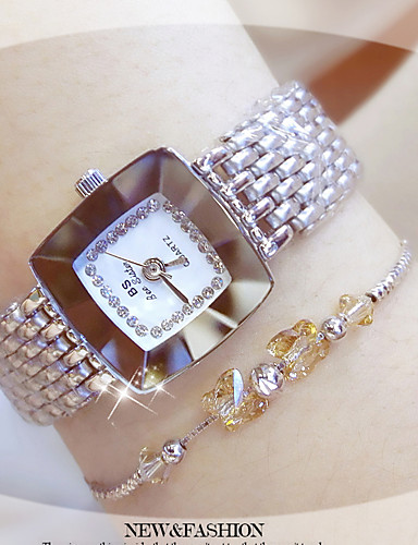 Women's Bracelet Watch Quartz Water Resistant / Water Proof Creative Stainless Steel Band Analog Casual Bangle Fashion Silver / Gold - Gold Silver