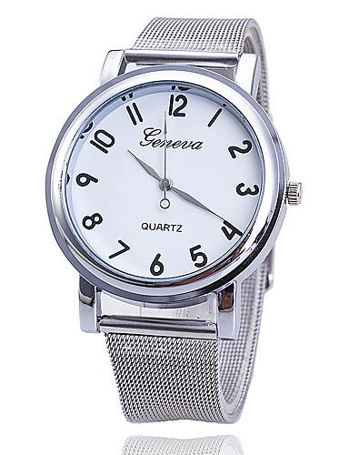 Mulheres Quartzo Relógio de Pulso Relógio Militar Relógio Esportivo Relógio Casual Aço Inoxidável Banda Luxo Criativo Casual Relógio