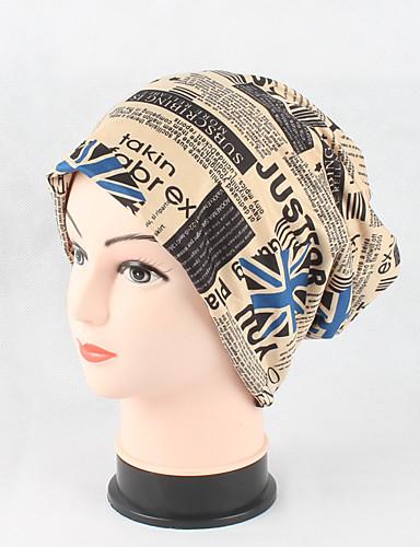 Women's Headwear Cute Chic & Modern Knitwear Cotton Beanie / Slouchy Floppy Hat Print Knitting