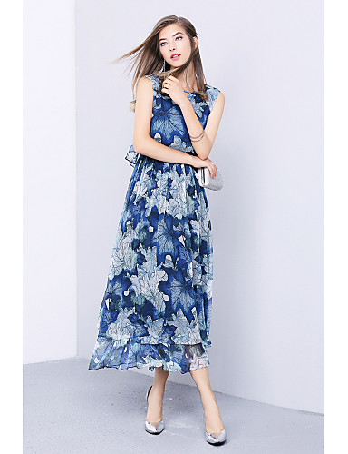 Women's Going out Daily Simple Cute Chiffon Swing Dress