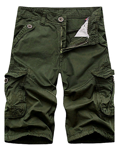 Men's Mid Rise Inelastic Chinos Shorts Pants,Active Chinoiserie Loose Straight Solid