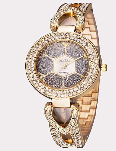 ASJ Mulheres Relógio de Pulso Japanês Impermeável Aço Inoxidável Banda Folhas / Vintage / Fashion Prata / Dourada / Ouro Rose