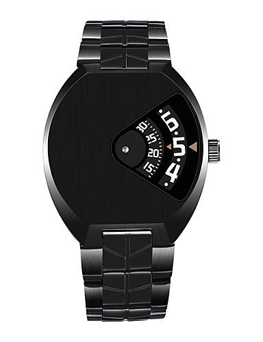 Homens Relógio Esportivo / Relógio de Pulso Chinês Calendário / Impermeável / Criativo Aço Inoxidável Banda Amuleto / Casual / Fashion Preta / Branco
