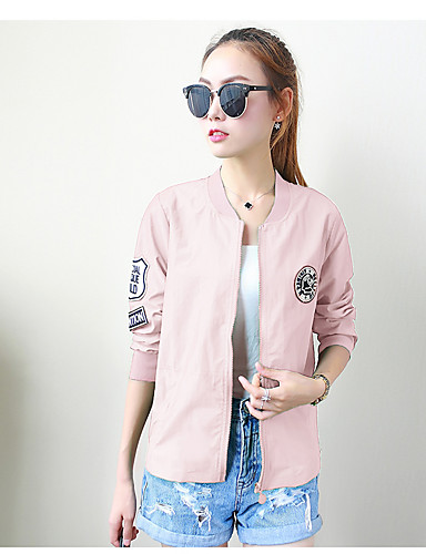 Women's Casual Jacket - Solid Colored / Spring
