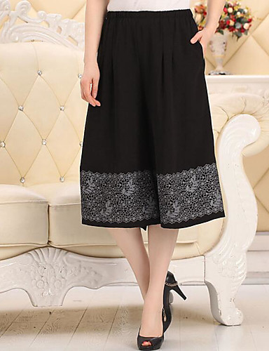 Women's Mid Rise Micro-elastic Wide Leg Pants,Sexy Relaxed Solid
