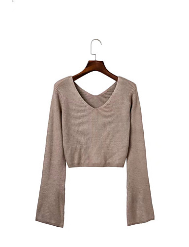 Women's Going out Daily Casual Street chic Short Pullover