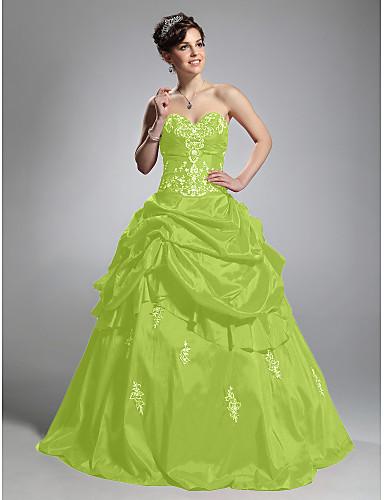 billige Quinceanera Kjoler-Ballkjole Kjære Gulvlang Taft Formell kveld Kjole med Samle Opp Kjole av TS Couture®