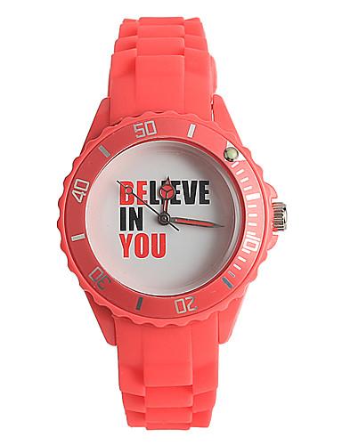 Women's Quartz Wrist Watch Japanese / Silicone Band Casual Fashion Red