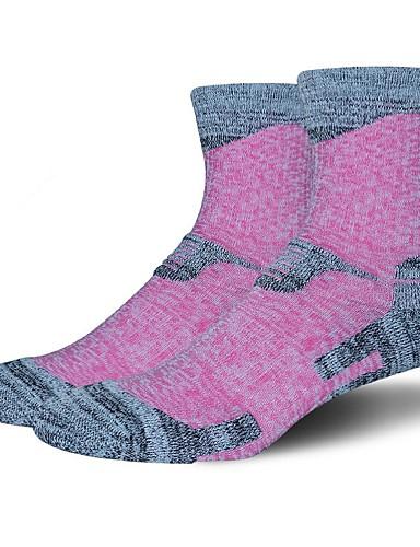 cheap Cycling Clothing-Compression Socks Sport Socks / Athletic Socks Cycling Socks Women's Yoga Hiking Climbing Bike / Cycling Warm Camping & Hiking Anatomic Design 1 Pair Cotton Spandex Chinlon Green Purple Fuchsia M
