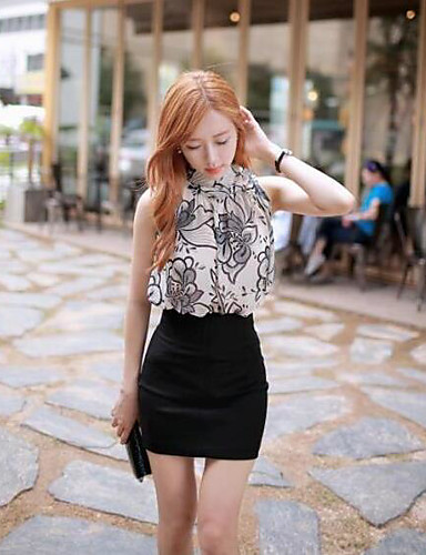 Women's Party Daily Casual Summer Blouse Skirt Suits