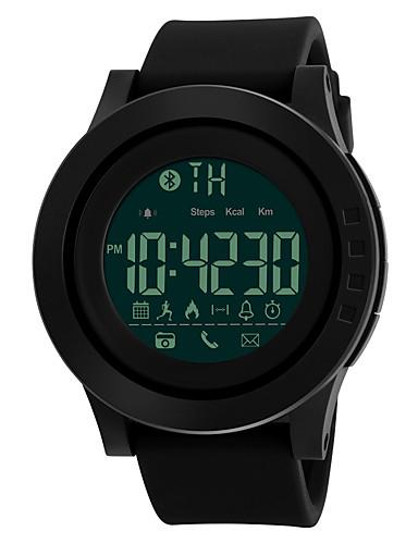 SKMEI Homens Relógio Esportivo Relógio Militar Relógio de Pulso Japanês Digital 50 m Impermeável Alarme Calendário Silicone Banda Digital Fashion Preta - Preto Verde Azul Dois anos Ciclo de Vida da