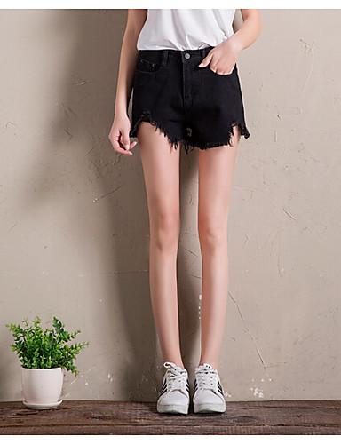 Women's High Waist Inelastic Shorts Pants,Simple Wide Leg Solid