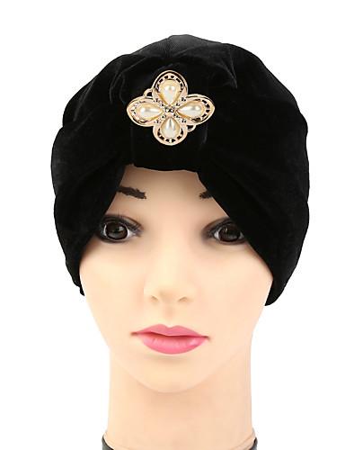 Mulheres Chapéu Flor Algodão, Floppy - Laço Sólido