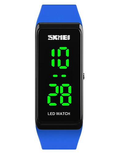 SKMEI Women's Sport Watch / Wrist Watch / Digital Watch Japanese Calendar / date / day / Water Resistant / Water Proof / Luminous PU Band Fashion Black / Blue / Red / Two Years / Maxell626+2025