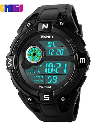 Homens Digital Relogio digital Relógio de Pulso Relógio inteligente Relógio Esportivo Chinês Calendário Mostrador Grande Silicone Banda
