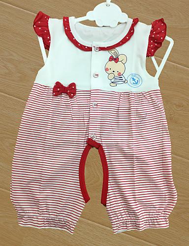 Baby Barne Nyfødt Bomull Baby Fest Stripe Tøysett,Tegneseriemotiv Alle årstider