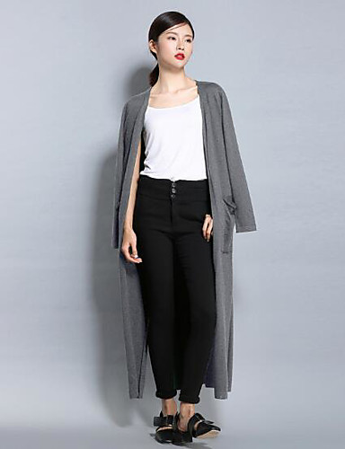 Women's Daily Long Cardigan